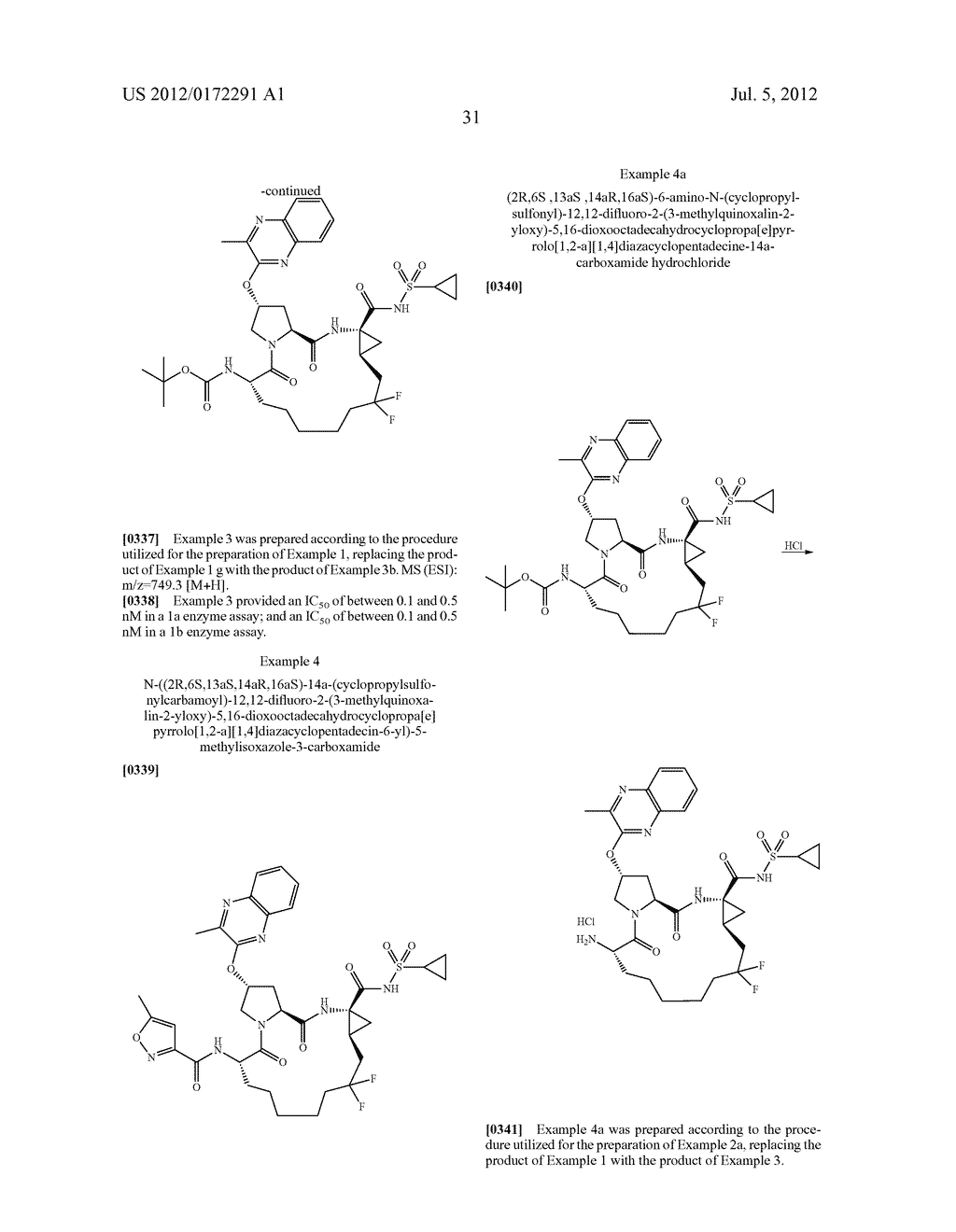 MACROCYCLIC HEPATITIS C SERINE PROTEASE INHIBITORS - diagram, schematic, and image 32