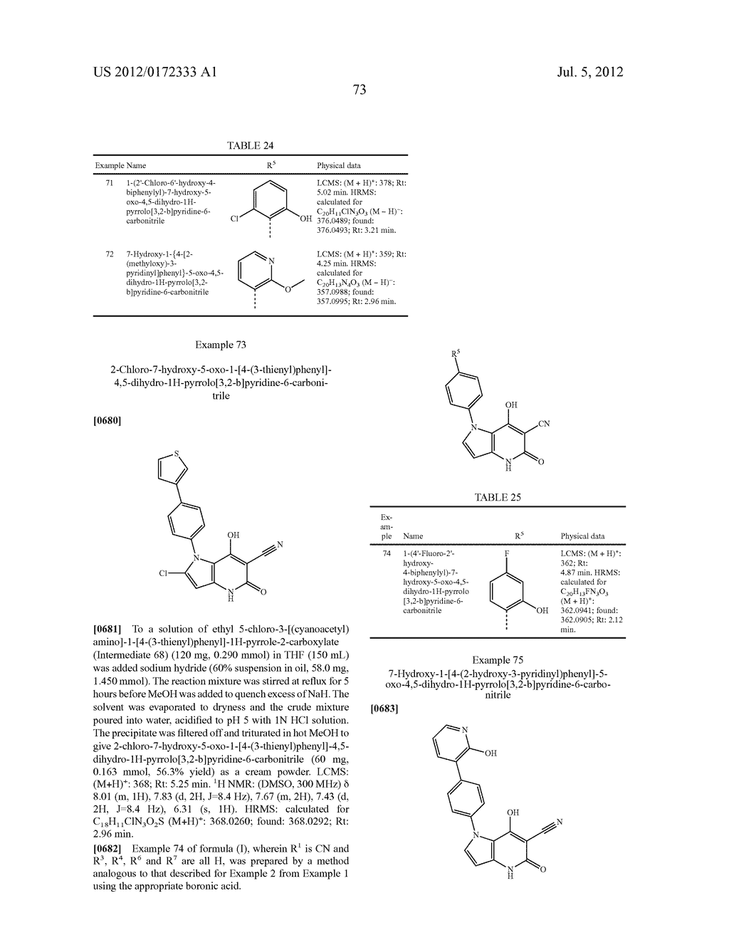 PYRROLO-PYRIDINE DERIVATIVES AS ACTIVATORS OF AMPK - diagram, schematic, and image 74