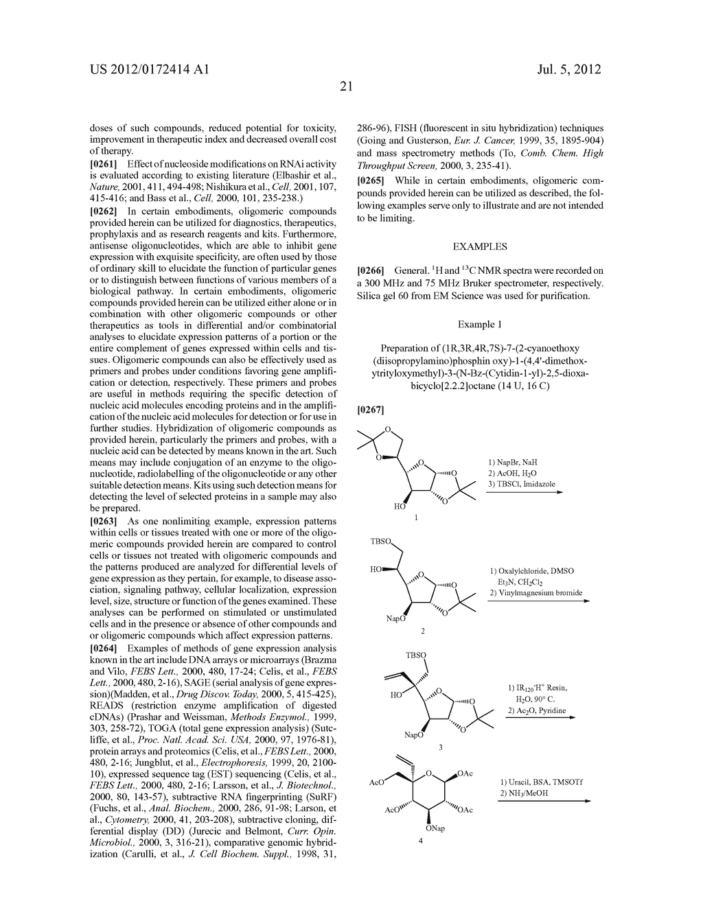 BICYCLIC CYCLOHEXOSE NUCLEIC ACID ANALOGS - diagram, schematic, and image 22