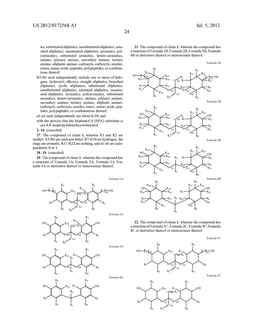 SUBSTANCES FOR USE AS BISPHENOL A SUBSTITUTES - diagram, schematic, and image 26