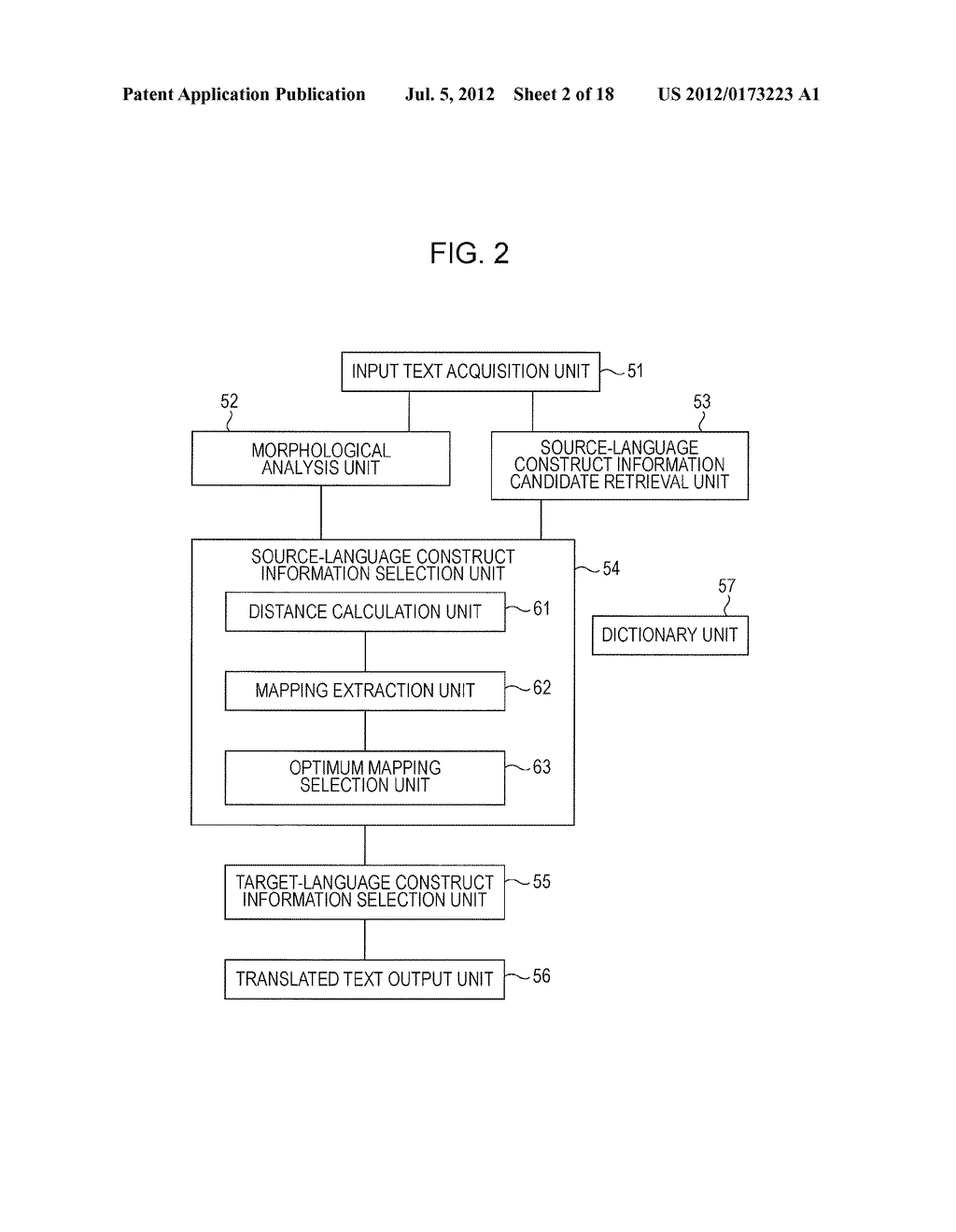 BILINGUAL INFORMATION RETRIEVAL APPARATUS, TRANSLATION APPARATUS, AND     COMPUTER READABLE MEDIUM - diagram, schematic, and image 03