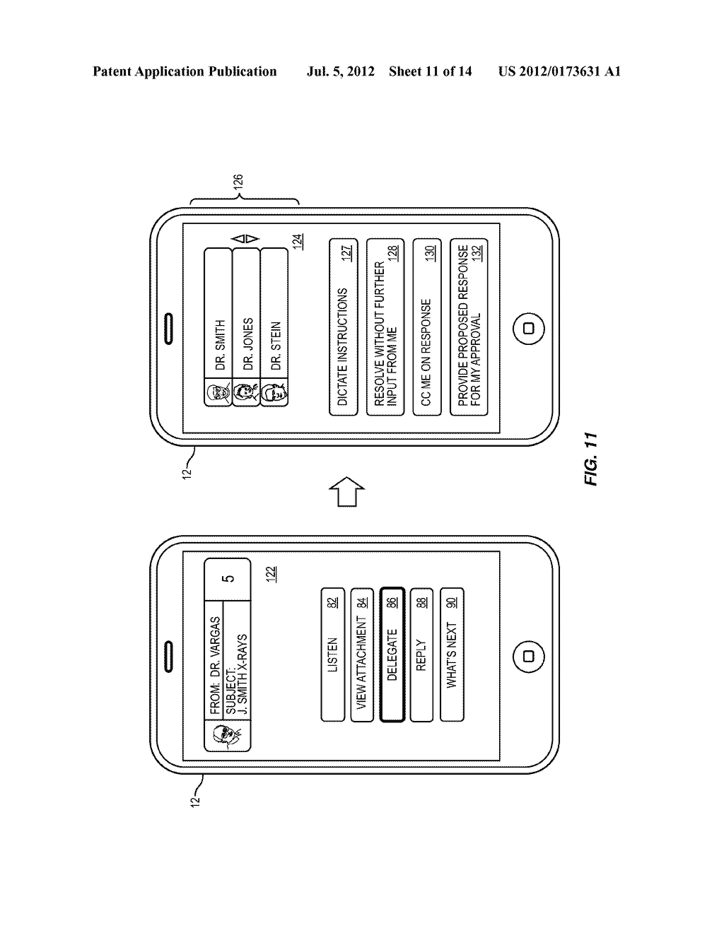 METHOD AND APPARATUS FOR DELEGATING A MESSAGE - diagram, schematic, and image 12
