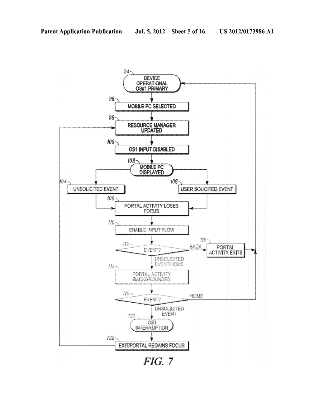 BACKGROUND SYNCHRONIZATION WITHIN A MULTI-ENVIRONMENT OPERATING SYSTEM - diagram, schematic, and image 06