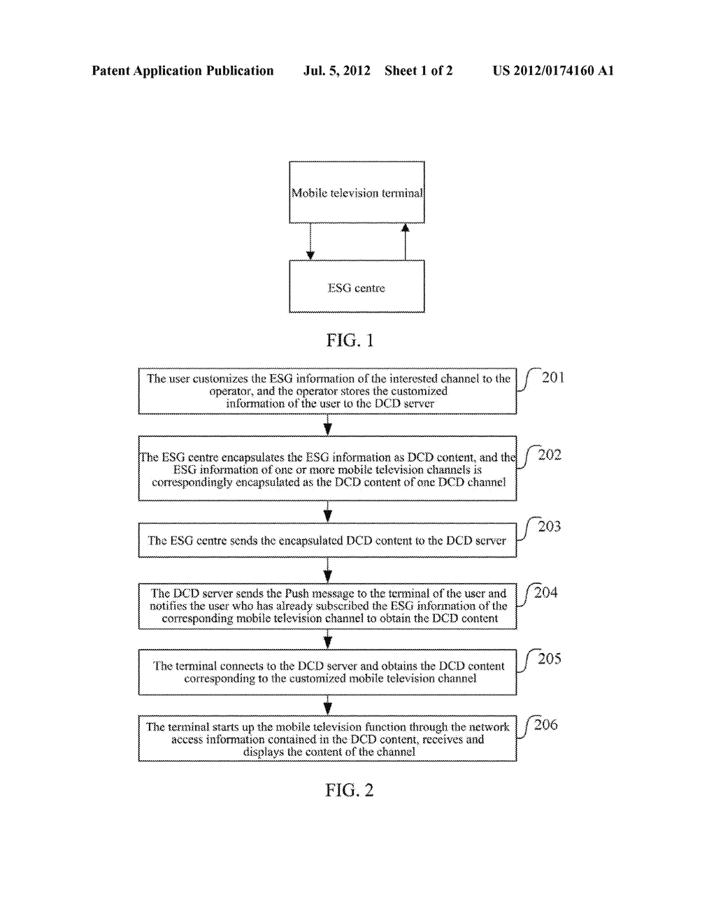 Method and System for Transmitting Electronic Service Guides - diagram, schematic, and image 02