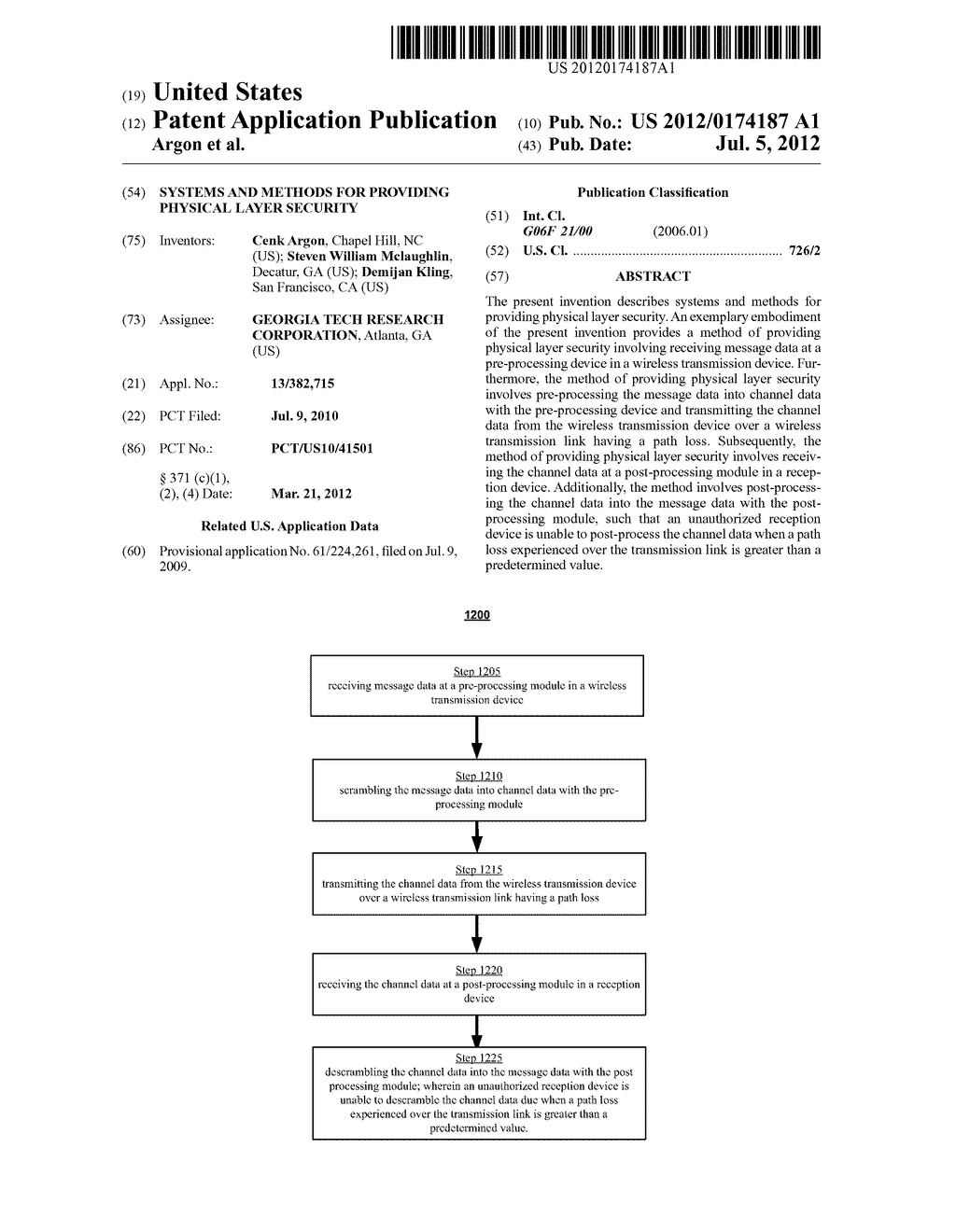 SYSTEMS AND METHODS FOR PROVIDING PHYSICAL LAYER SECURITY - diagram, schematic, and image 01