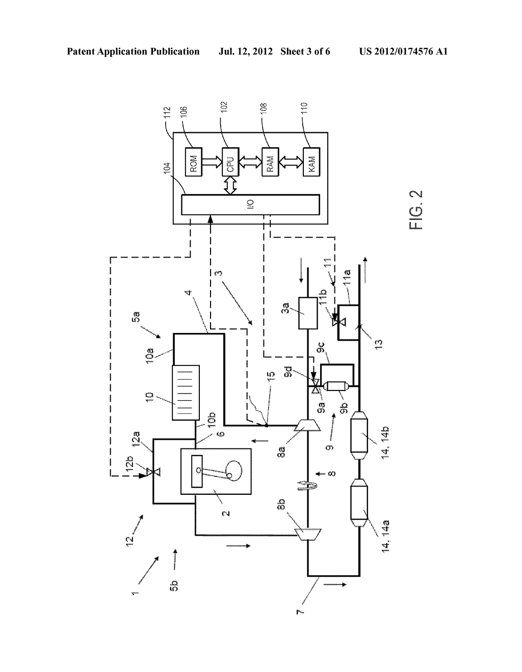 SUPERCHARGED INTERNAL COMBUSTION ENGINE AND METHOD FOR OPERATING AN     INTERNAL COMBUSTION ENGINE OF SAID TYPE - diagram, schematic, and image 04