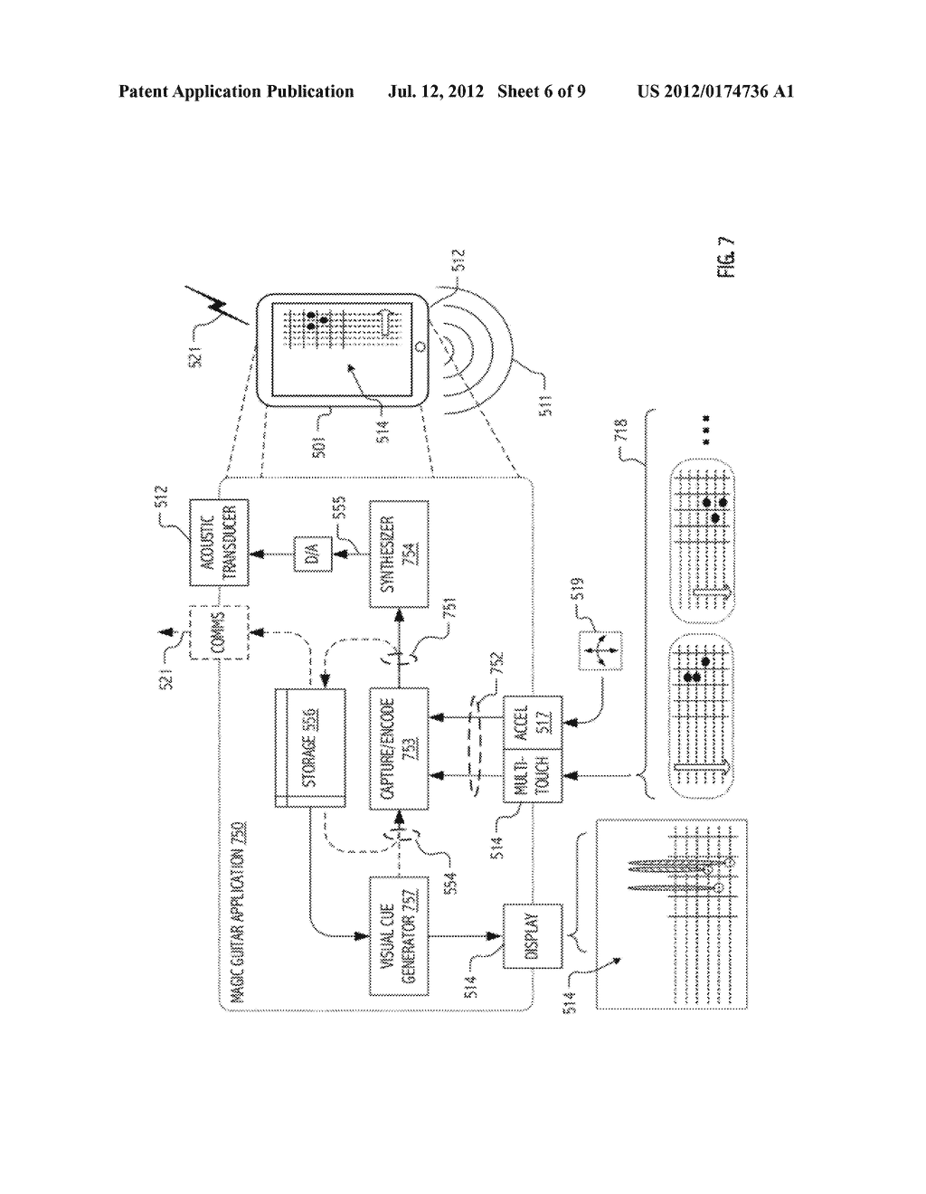 SYSTEM AND METHOD FOR CAPTURE AND RENDERING OF PERFORMANCE ON SYNTHETIC     STRING INSTRUMENT - diagram, schematic, and image 07