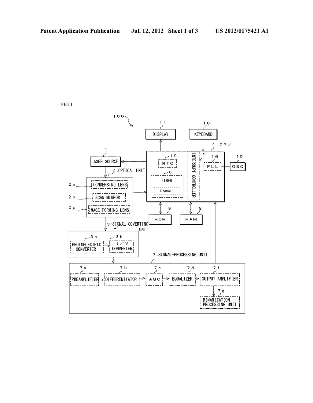 Optical-Information-Reading Apparatus and Control Method Thereof - diagram, schematic, and image 02