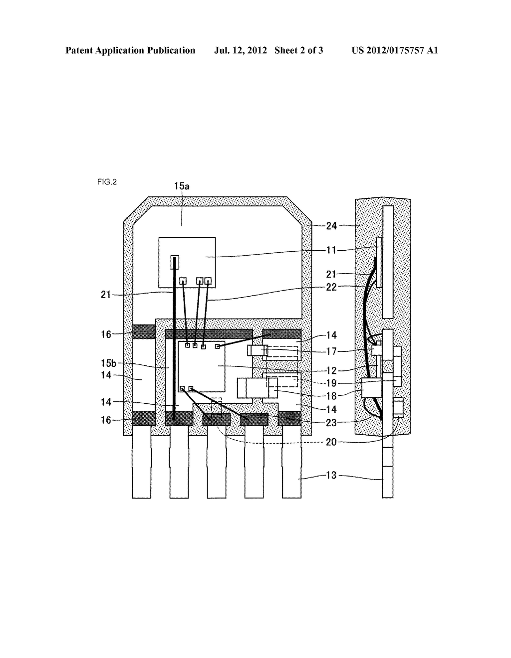METHOD OF MANUFACTURING SEMICONDUCTOR APPARATUS, THE SEMICONDUCTOR     APPARATUS, AND IGNITOR USING THE SEMICONDUCTOR APPARATUS - diagram, schematic, and image 03