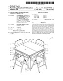 FOLDING TABLE AND CHAIR SET WITH PORTABLE CARRYING CASE diagram and image