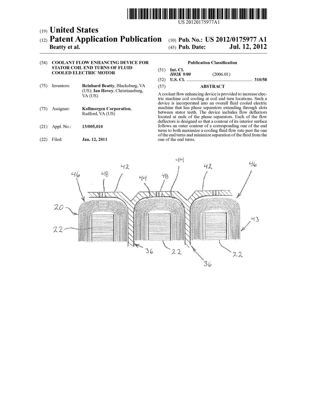 20120175977_01 coolant flow enhancing device for stator coil end turns of fluid