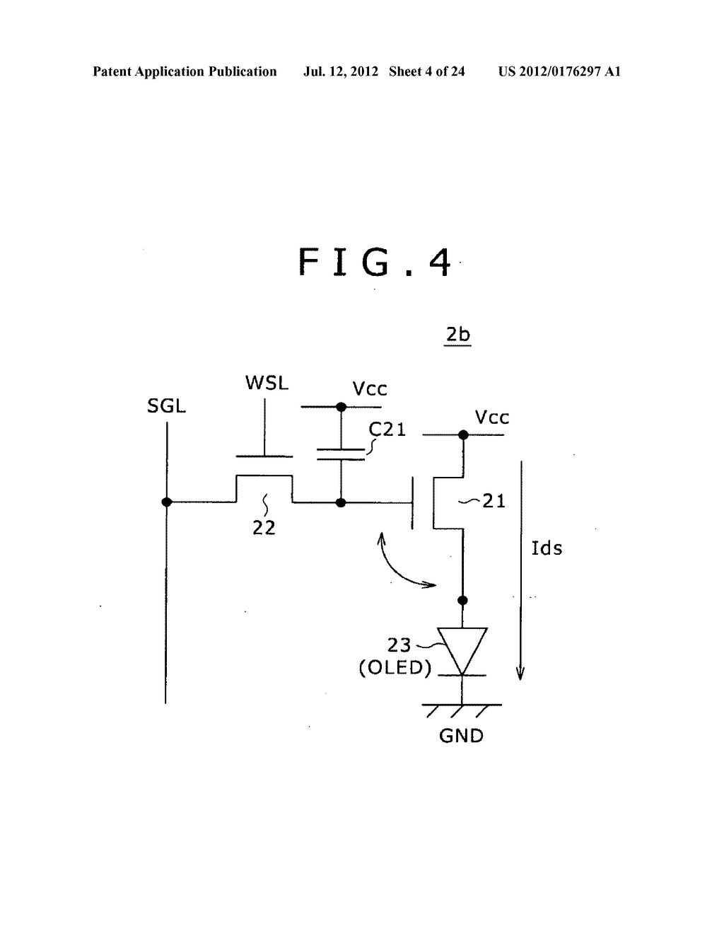 PIXEL CIRCUIT AND DISPLAY DEVICE, AND A METHOD OF MANUFACTURING PIXEL     CIRCUIT - diagram, schematic, and image 05