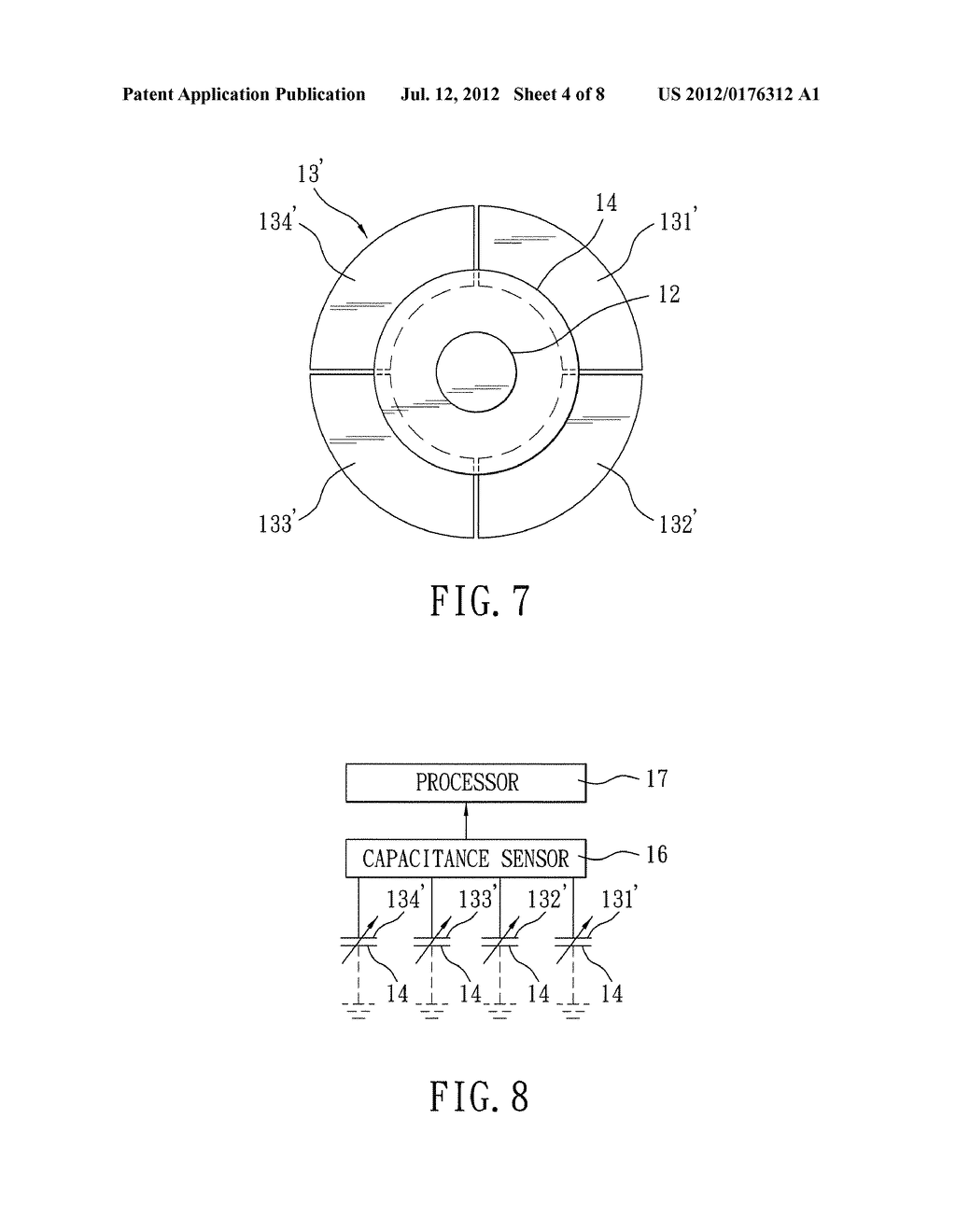 POINTING DEVICE USING CAPACITIVE SENSING - diagram, schematic, and image 05