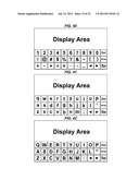TOUCHSCREEN KEYBOARD DISPLAYS, ALPHANUMERIC INPUT KEYBOARDS AND CONTROL     MEANS diagram and image