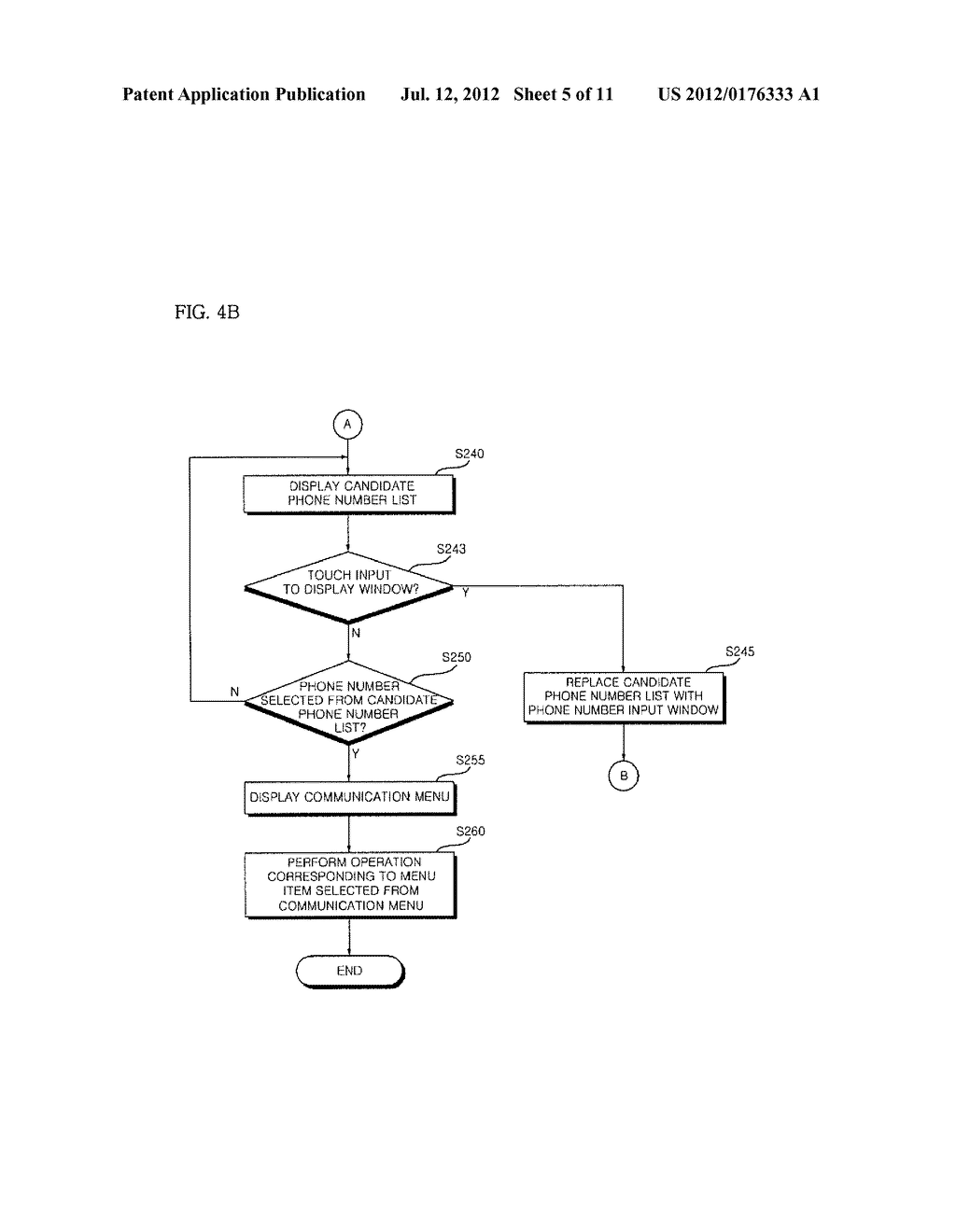 MOBILE COMMUNICATION DEVICE CAPABLE OF PROVIDING CANADIDATE PHONE NUMBER     LIST AND METHOD OF CONTROLLING OPERATION OF THE MOBILE COMMUNICATION     DEVICE - diagram, schematic, and image 06