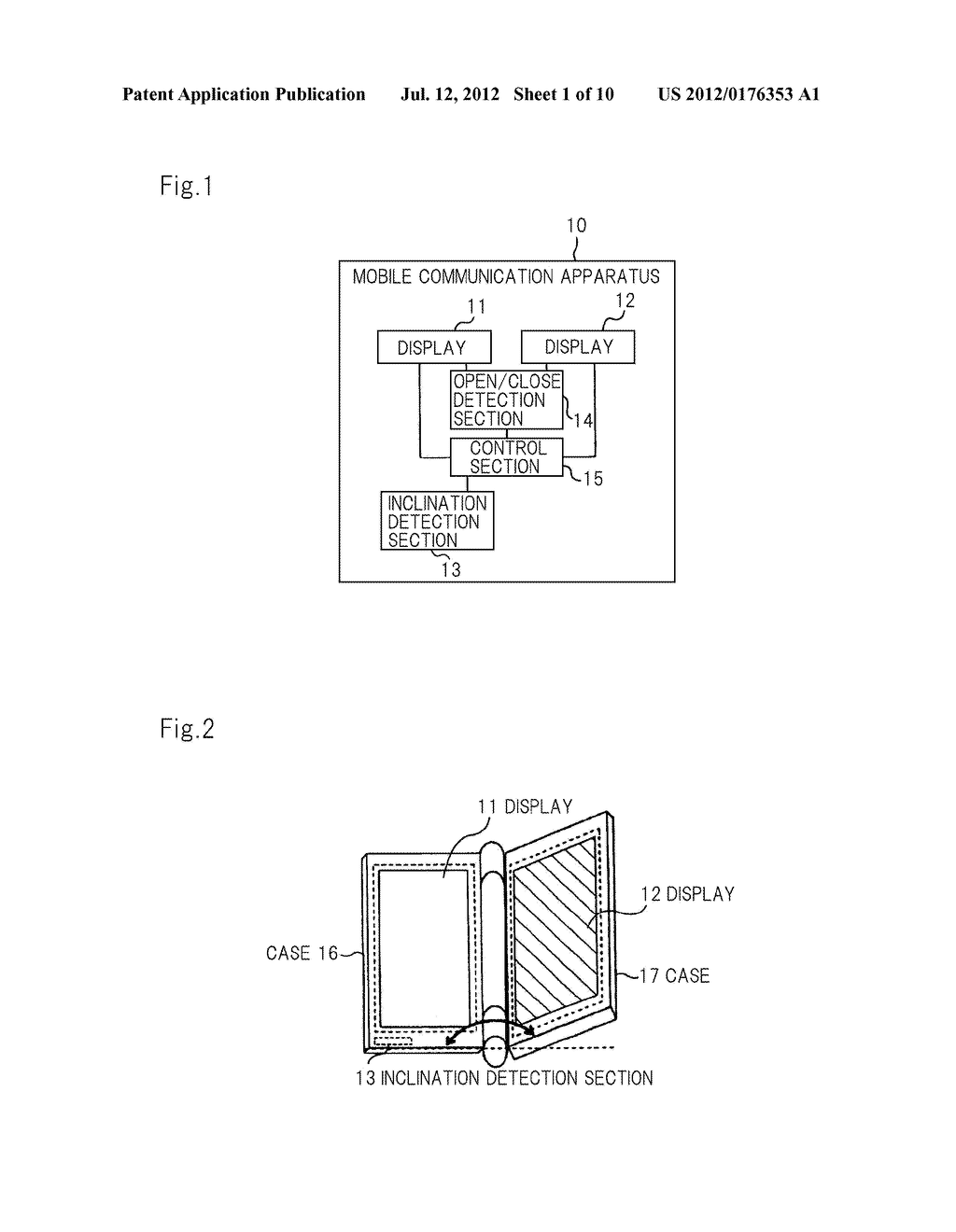 MOBILE INFORMATION APPARATUS AND DISPLAY CONTROL METHOD - diagram, schematic, and image 02
