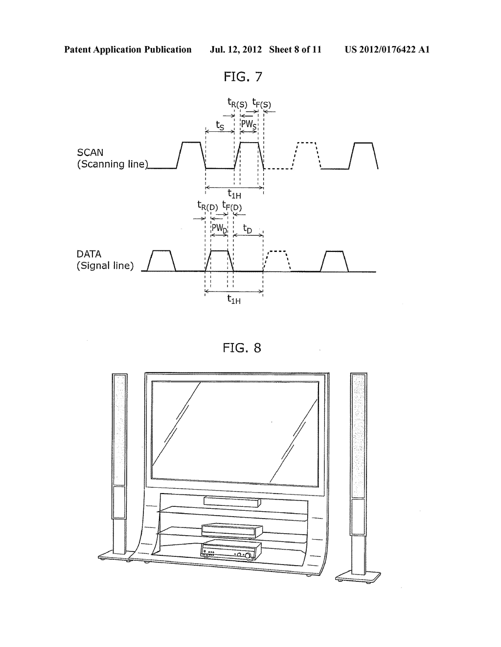DISPLAY DEVICE AND METHOD OF DRIVING THE SAME - diagram, schematic, and image 09