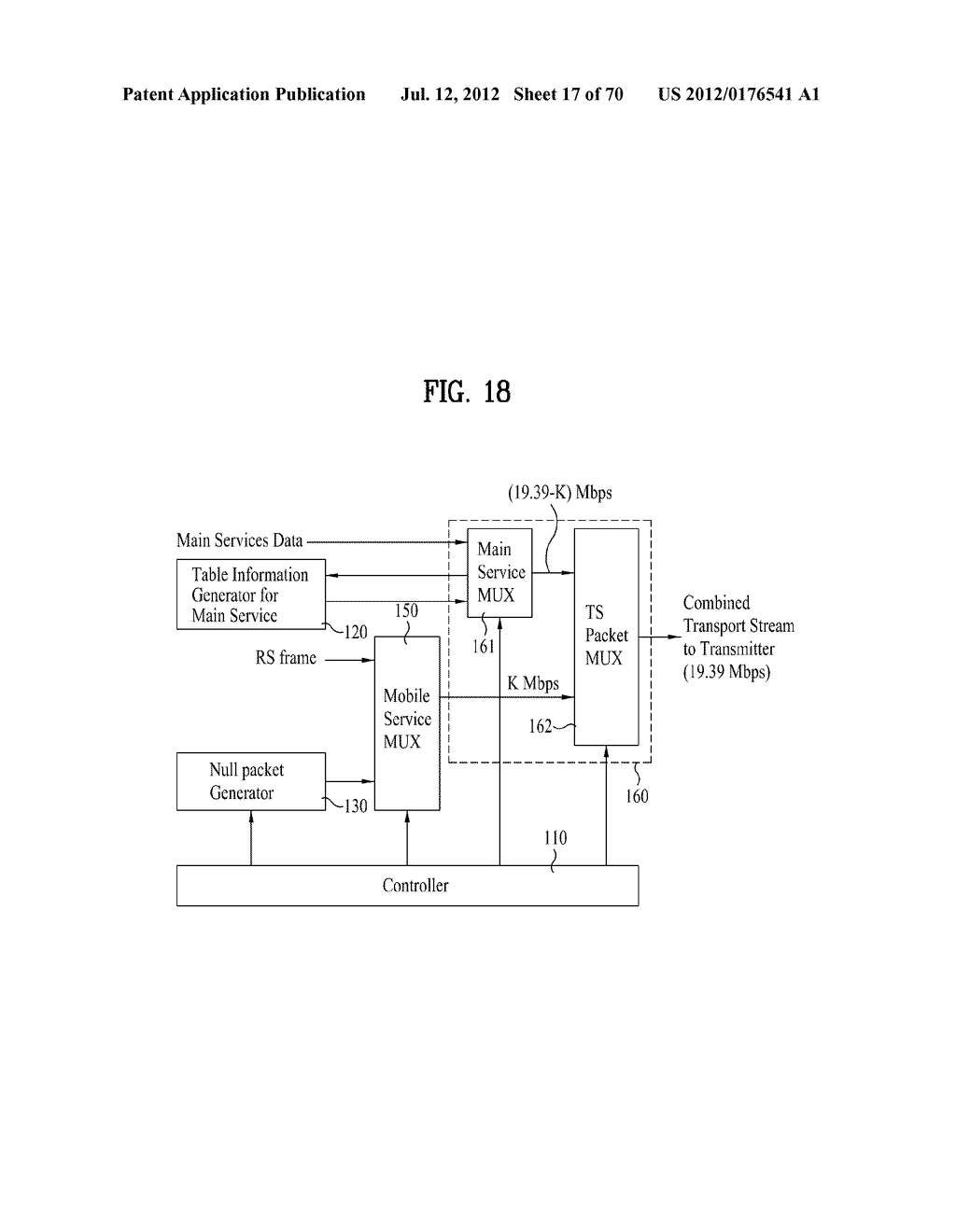 TRANSMITTING/RECEIVING SYSTEM AND METHOD OF PROCESSING BROADCAST SIGNAL IN     TRANSMITTING/RECEIVING SYSTEM - diagram, schematic, and image 18