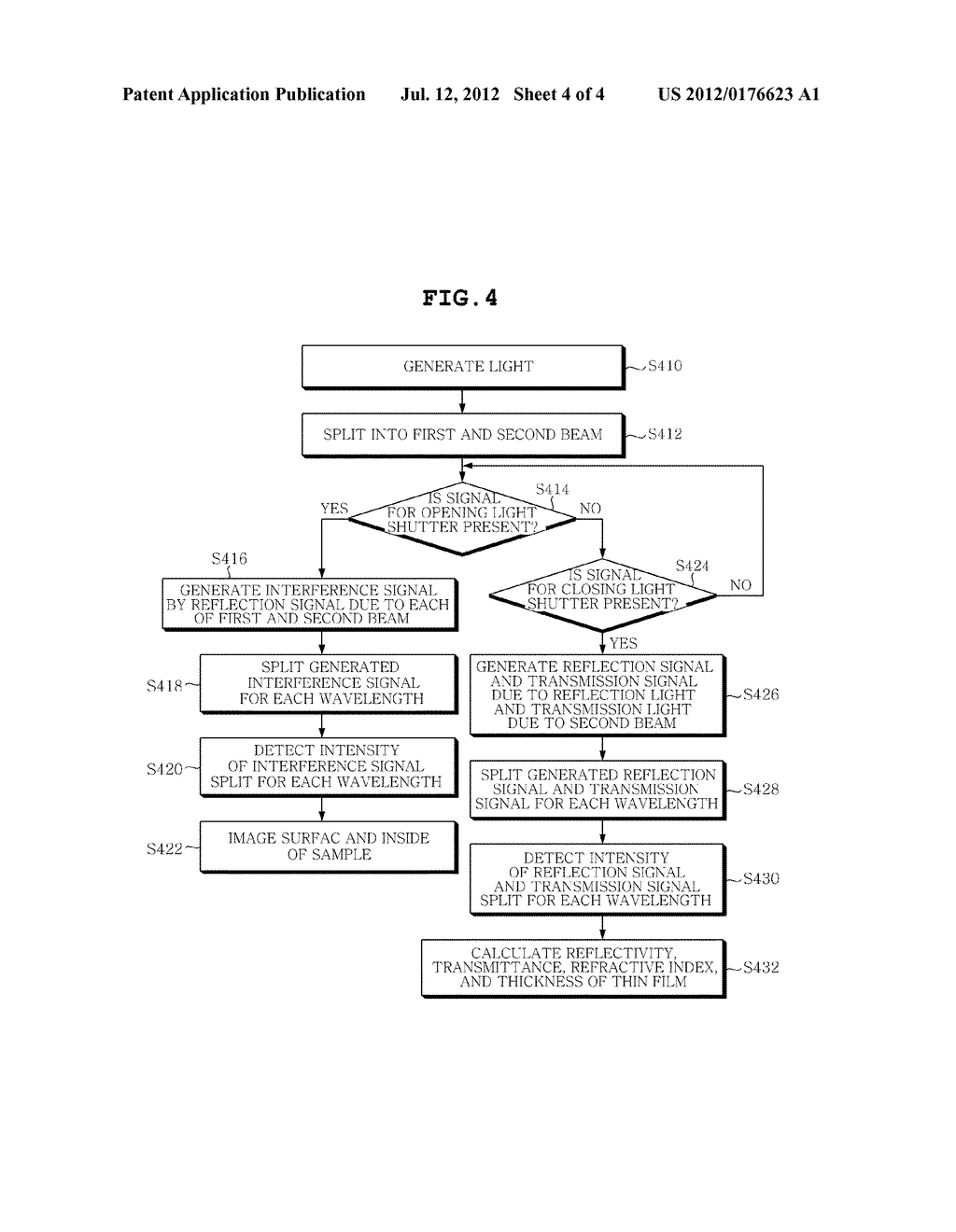 APPARATUS AND METHOD FOR MEASURING  CHARACTERISTICS OF MULTI-LAYERED THIN     FILMS - diagram, schematic, and image 05