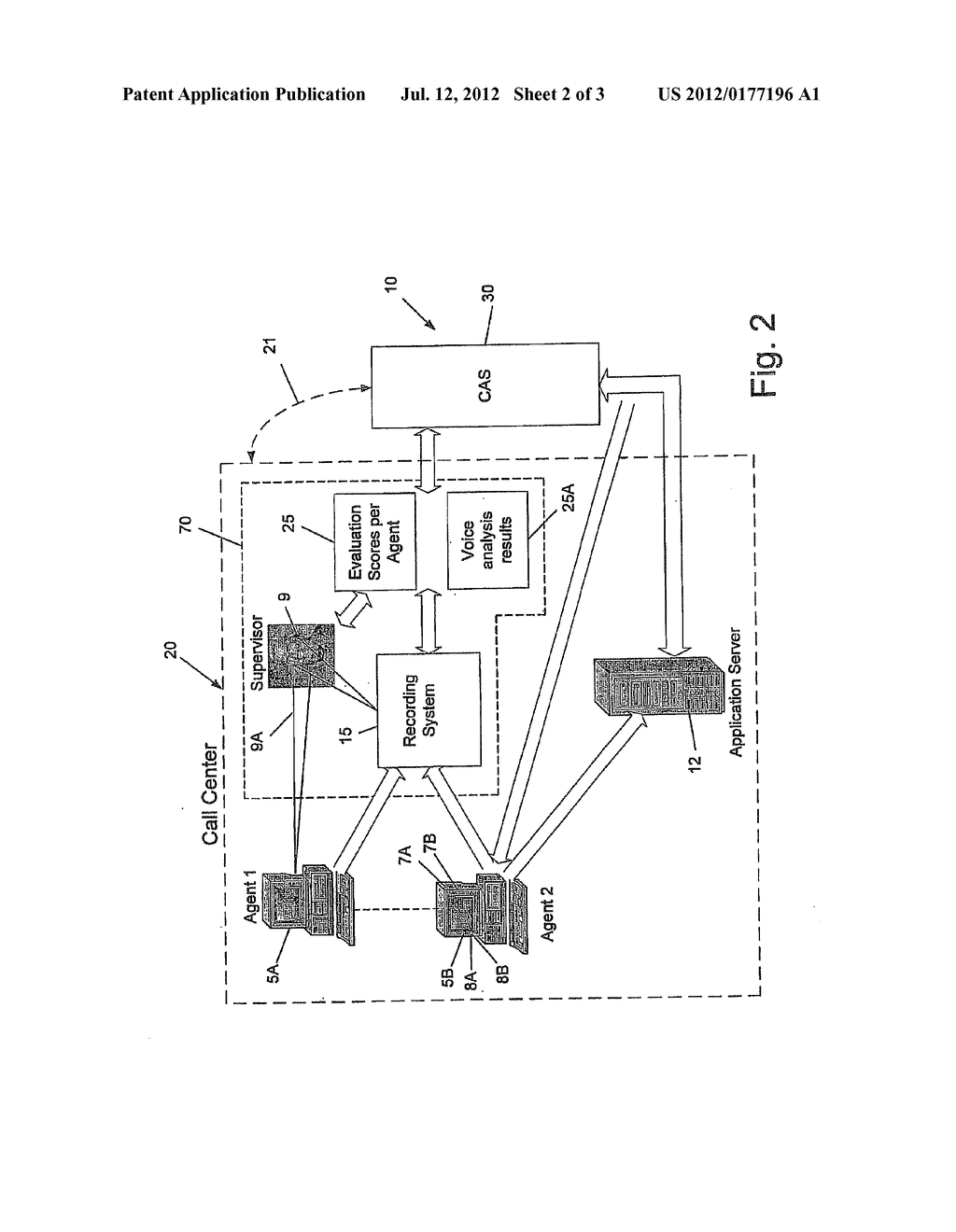 PROACTIVE SYSTEM AND METHOD FOR MONITORING AND GUIDANCE OF CALL CENTER     AGENT - diagram, schematic, and image 03