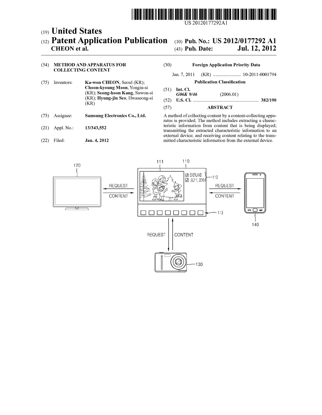 METHOD AND APPARATUS FOR COLLECTING CONTENT - diagram, schematic, and image 01
