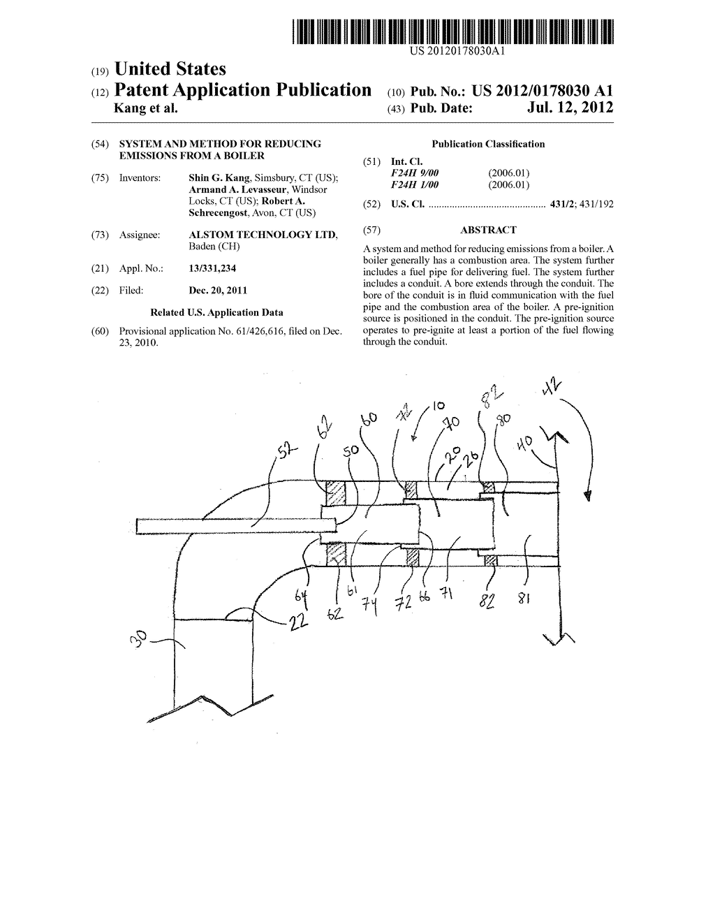 SYSTEM AND METHOD FOR REDUCING EMISSIONS FROM A BOILER - diagram, schematic, and image 01