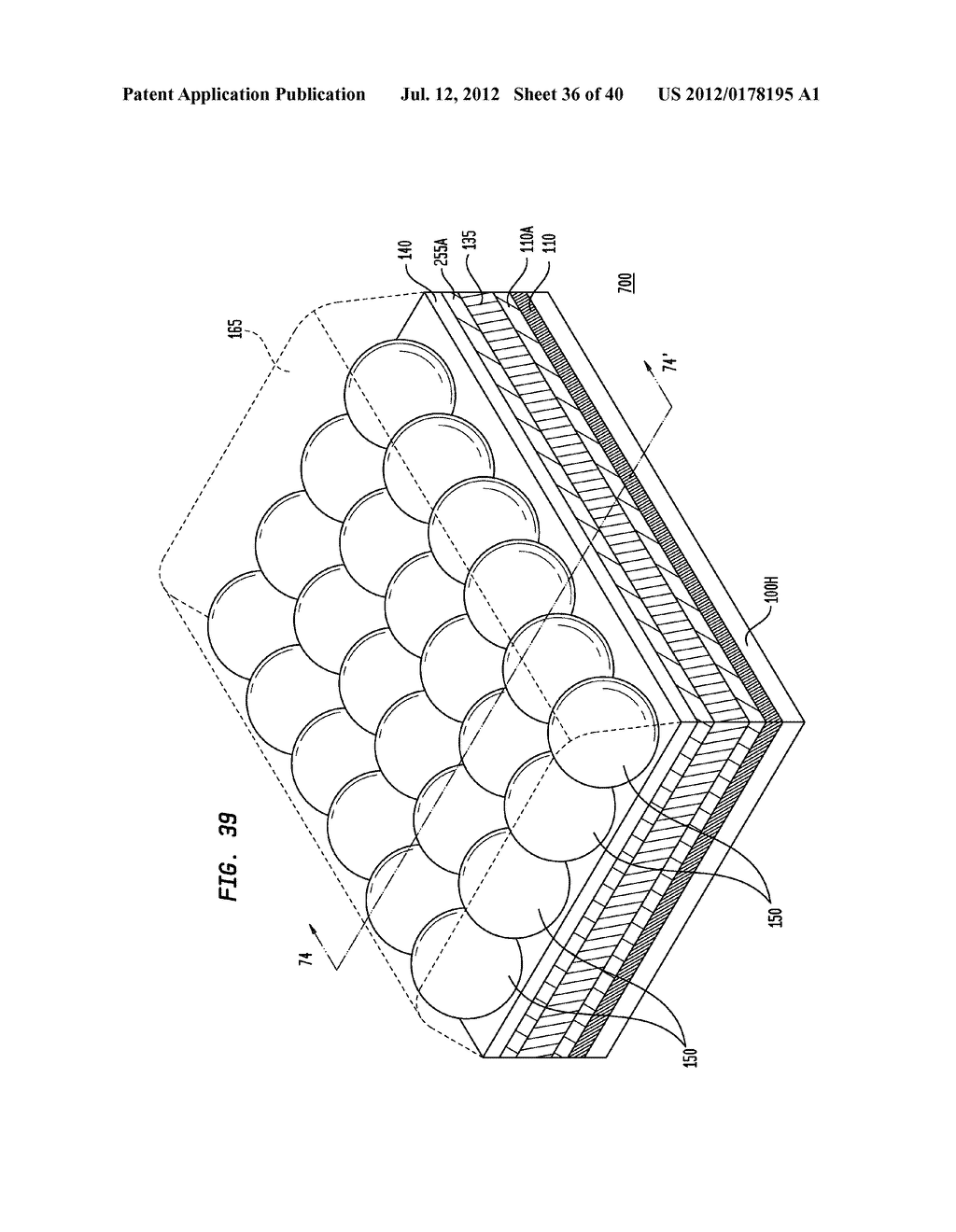 Method of Manufacturing a Light Emitting, Photovoltaic or Other Electronic     Apparatus and System - diagram, schematic, and image 37