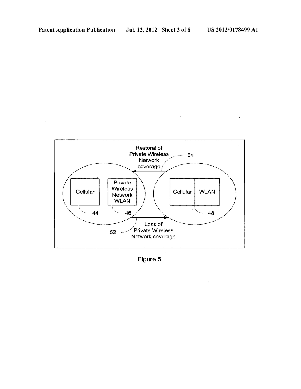 SYSTEM AND METHOD OF HANDSET CONFIGURATION BETWEEN CELLULAR AND PRIVATE     WIRELESS NETWORK MODES - diagram, schematic, and image 04