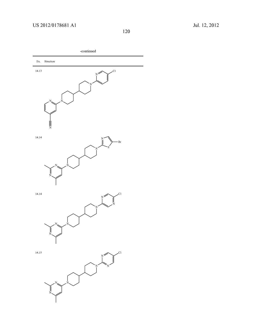 BIPIPERIDINYL COMPOUNDS, COMPOSITIONS, CONTAINING SUCH COMPOUNDS AND     METHODS OF TREATMENT - diagram, schematic, and image 121