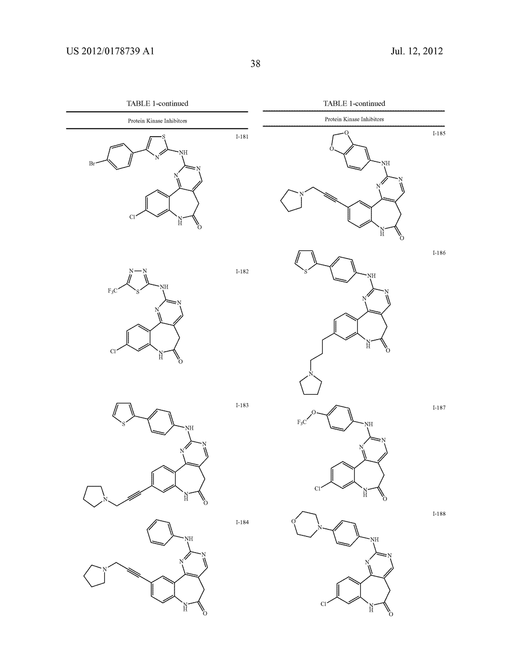 LACTAM COMPOUNDS USEFUL AS PROTEIN KINASE INHIBITORS - diagram, schematic, and image 39