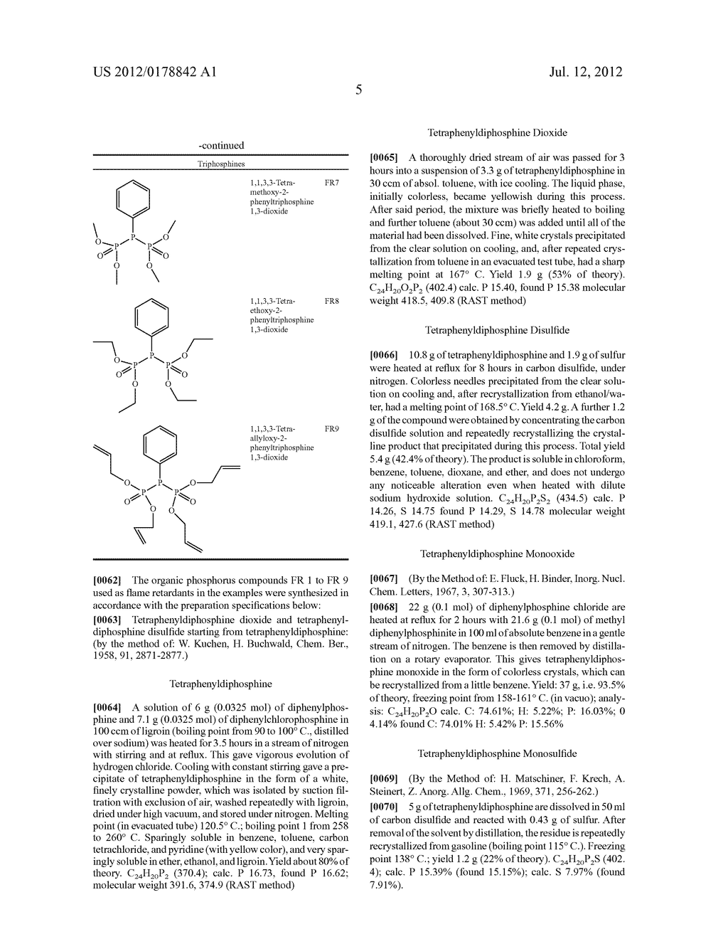 HALOGEN-FREE, FLAME-PROOF POLYMER FOAMS CONTAINING AT LEAST ONE     OLIGOPHOSPHORUS COMPOUND - diagram, schematic, and image 06