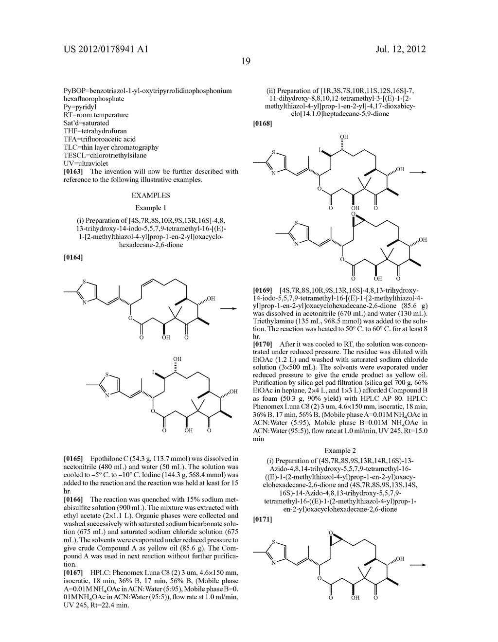 PROCESSES FOR MAKING EPOTHILONE COMPOUNDS AND ANALOGS - diagram, schematic, and image 20