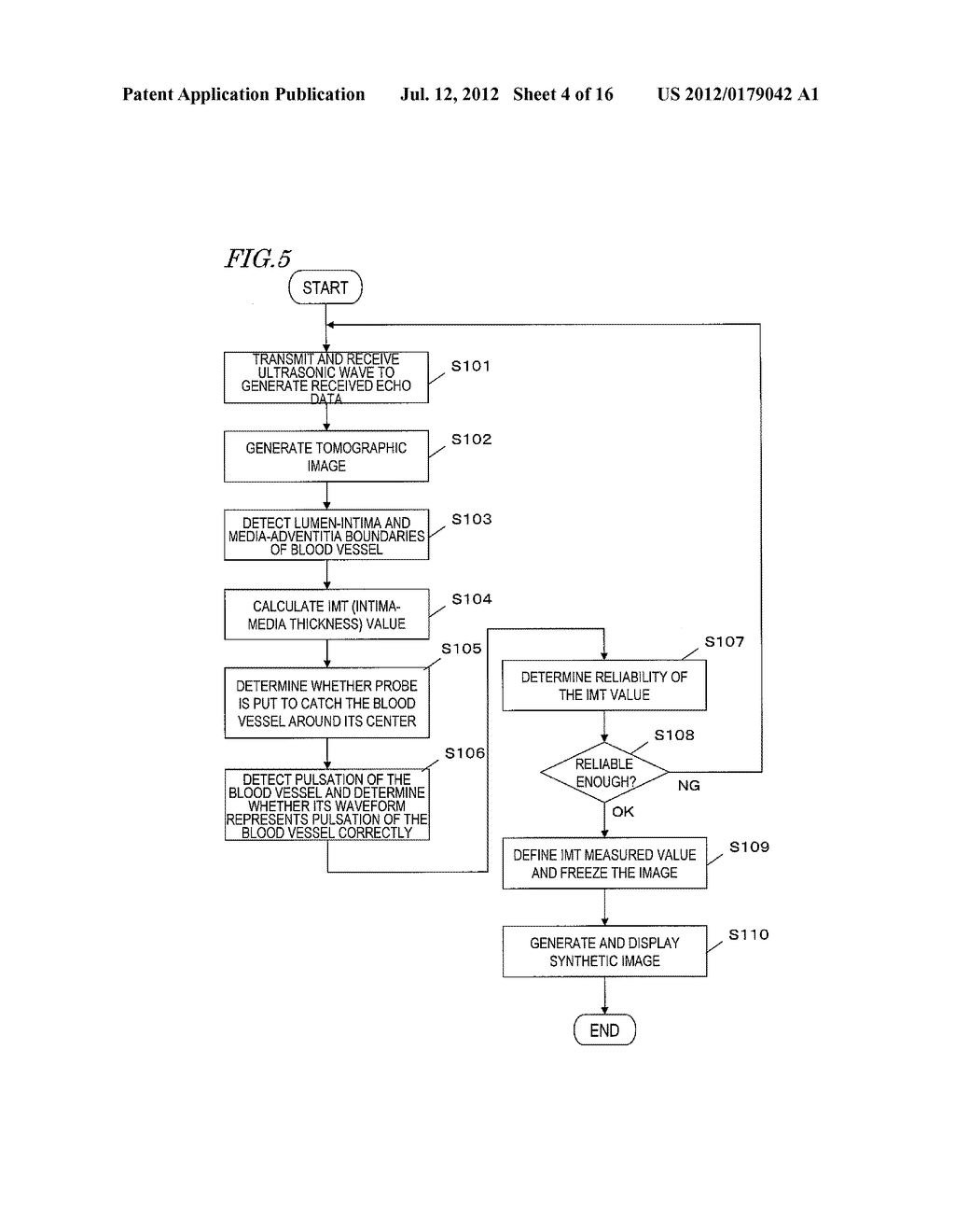 ULTRASONIC DIAGNOSTIC DEVICE, AND METHOD FOR MEASURING INITMA-MEDIA     COMPLEX THICKNESS - diagram, schematic, and image 05