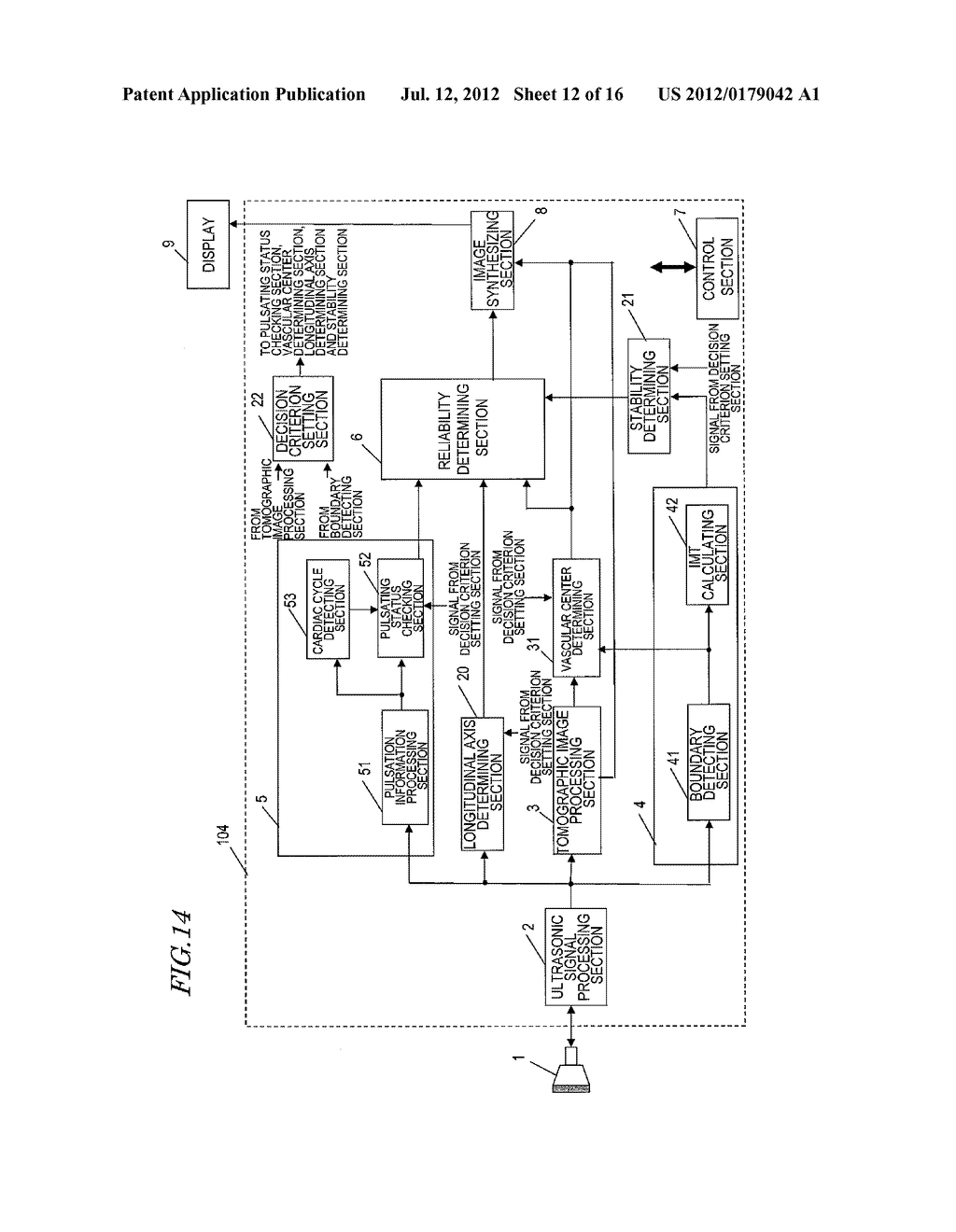 ULTRASONIC DIAGNOSTIC DEVICE, AND METHOD FOR MEASURING INITMA-MEDIA     COMPLEX THICKNESS - diagram, schematic, and image 13