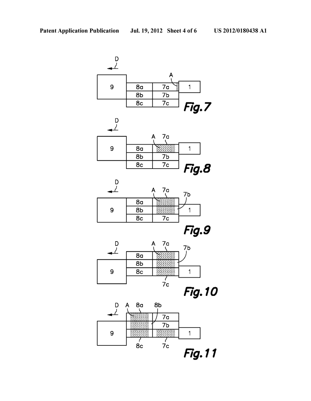 APPARATUS AND METHOD FOR CUTTING SLICES OF A FOOD PRODUCT AND LOADING THEM     ON A CONVEYING SURFACE, AND TREATMENT PLANT INCLUDING SAID APPARATUS - diagram, schematic, and image 05