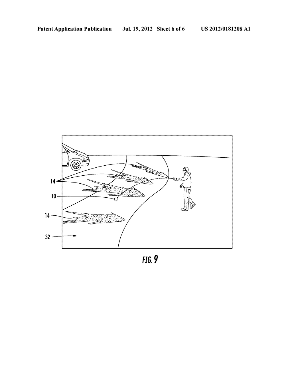 ARTICLE AND METHOD FOR SPREADING A SUBSTANCE ABOUT A SURFACE - diagram, schematic, and image 07