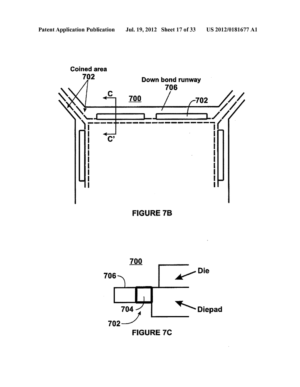 SEMICONDUCTOR DEVICE PACKAGE WITH TWO COMPONENT LEAD FRAME - diagram ...