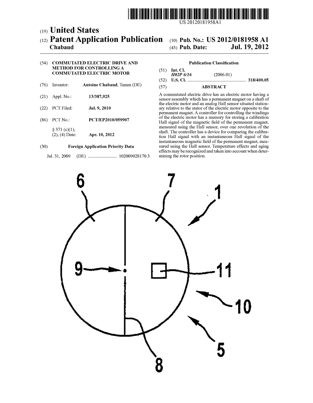 COMMUTATED ELECTRIC DRIVE AND METHOD FOR CONTROLLING A COMMUTATED ELECTRIC     MOTOR - diagram, schematic, and image 01