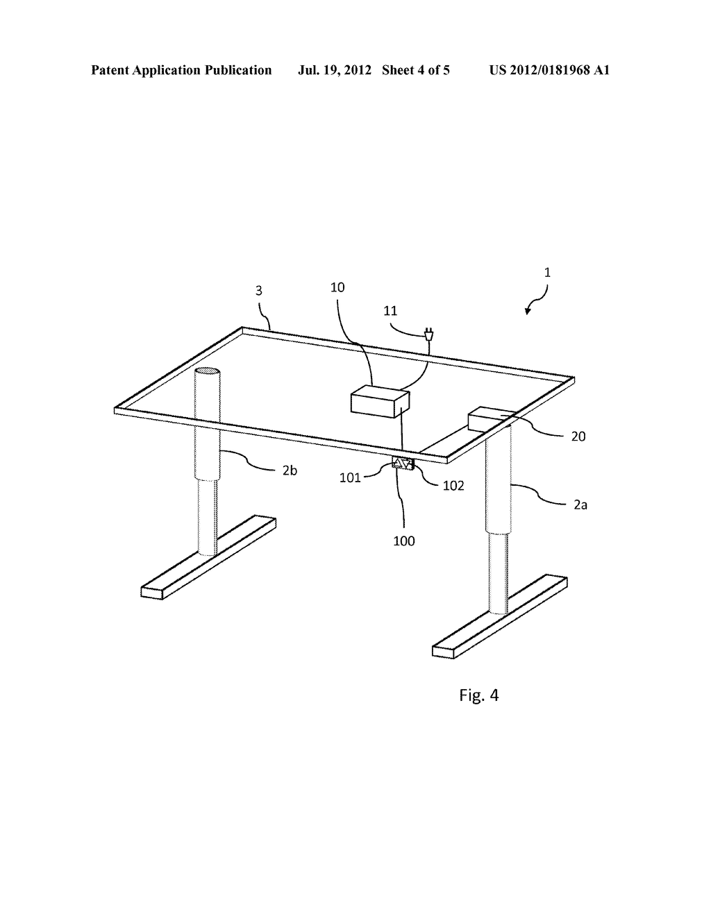 METHOD FOR CONTROLLING OPERATION OF AN ELECTRIC MOTOR IN A     HEIGHT-ADJUSTABLE FURNITURE ARRANGEMENT - diagram, schematic, and image 05