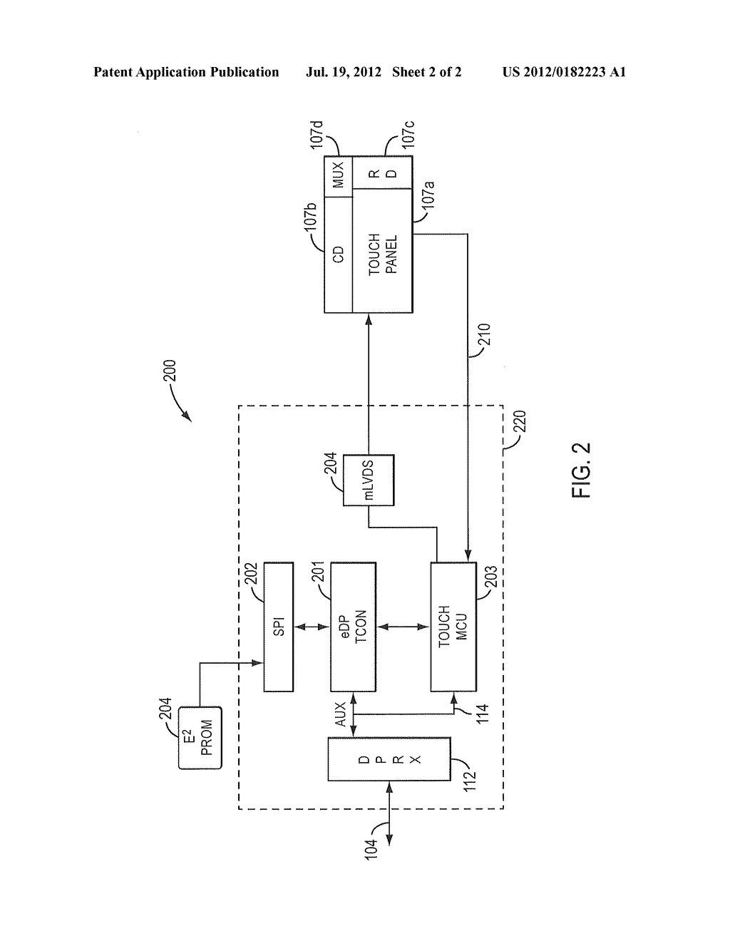 integrated display and touch system with displayport embedded voltage regulator schematic integrated display and touch system with displayport embedded displayport interface diagram, schematic, and image 03