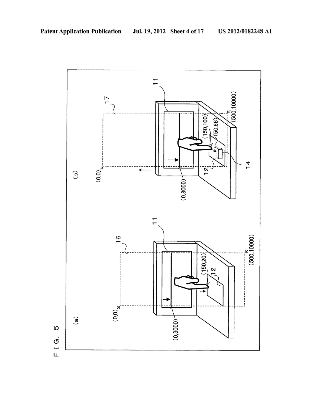 TEXT DISPLAY DEVICE, TEXT DISPLAY PROGRAM, AND TEXT DISPLAY METHOD THAT     PROVIDE TACTILE SENSATIONS IN ACCORDANCE WITH DISPLAYED TEXT - diagram, schematic, and image 05