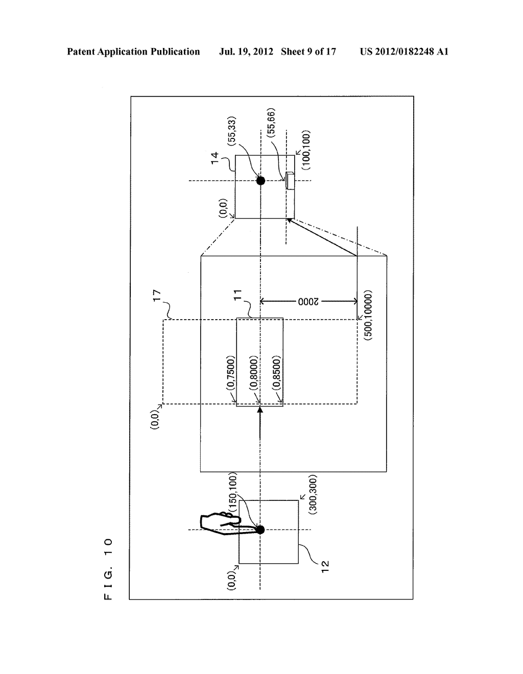 TEXT DISPLAY DEVICE, TEXT DISPLAY PROGRAM, AND TEXT DISPLAY METHOD THAT     PROVIDE TACTILE SENSATIONS IN ACCORDANCE WITH DISPLAYED TEXT - diagram, schematic, and image 10