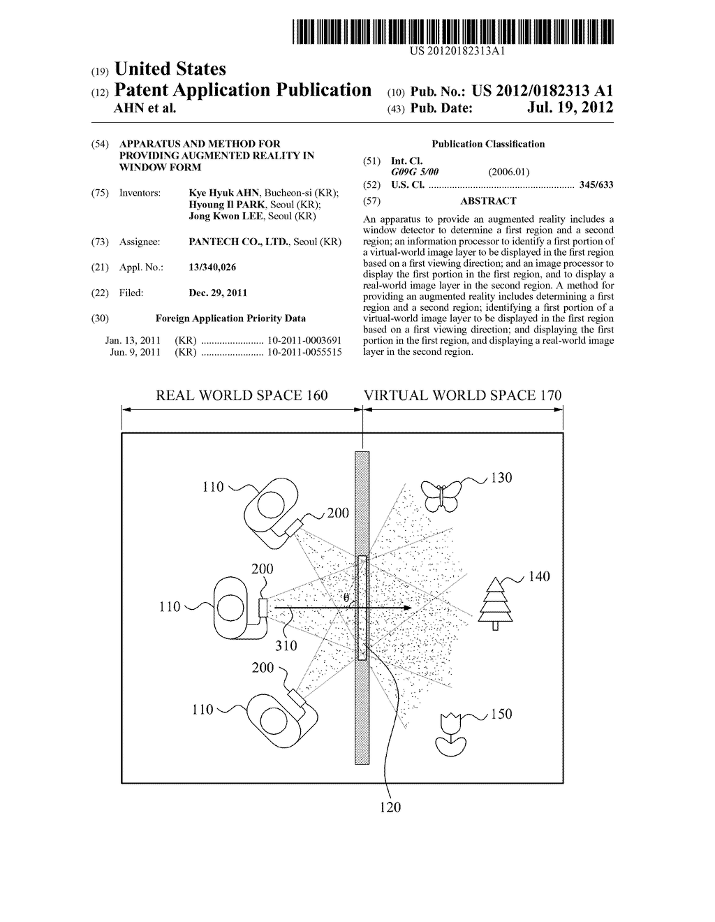 APPARATUS AND METHOD FOR PROVIDING AUGMENTED REALITY IN WINDOW FORM - diagram, schematic, and image 01