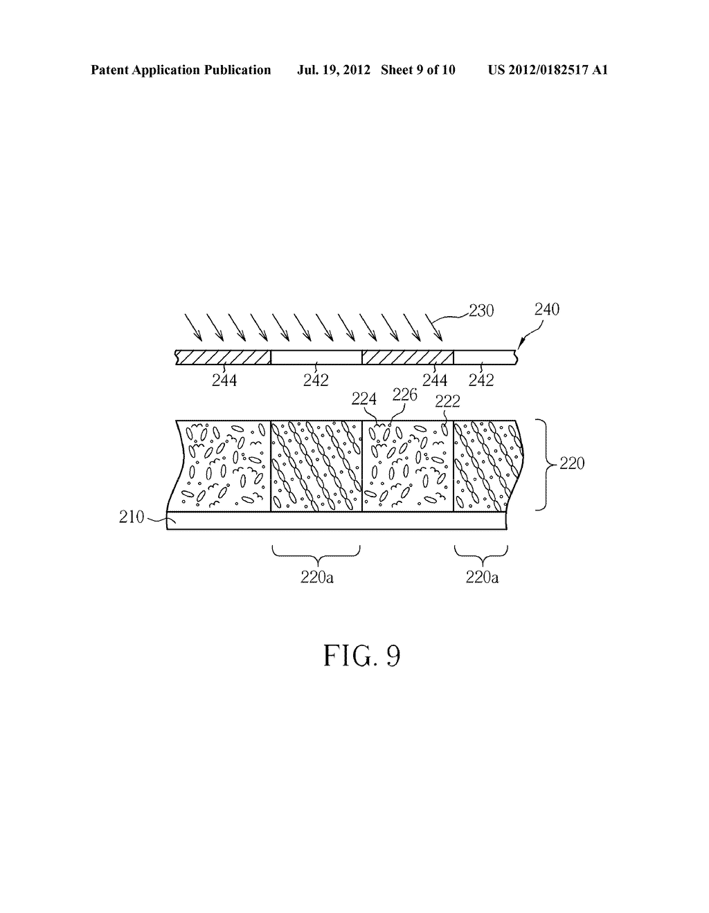 METHOD FOR MANUFACTURING MICRO RETARDER WITHOUT ALIGNMENT LAYER - diagram, schematic, and image 10