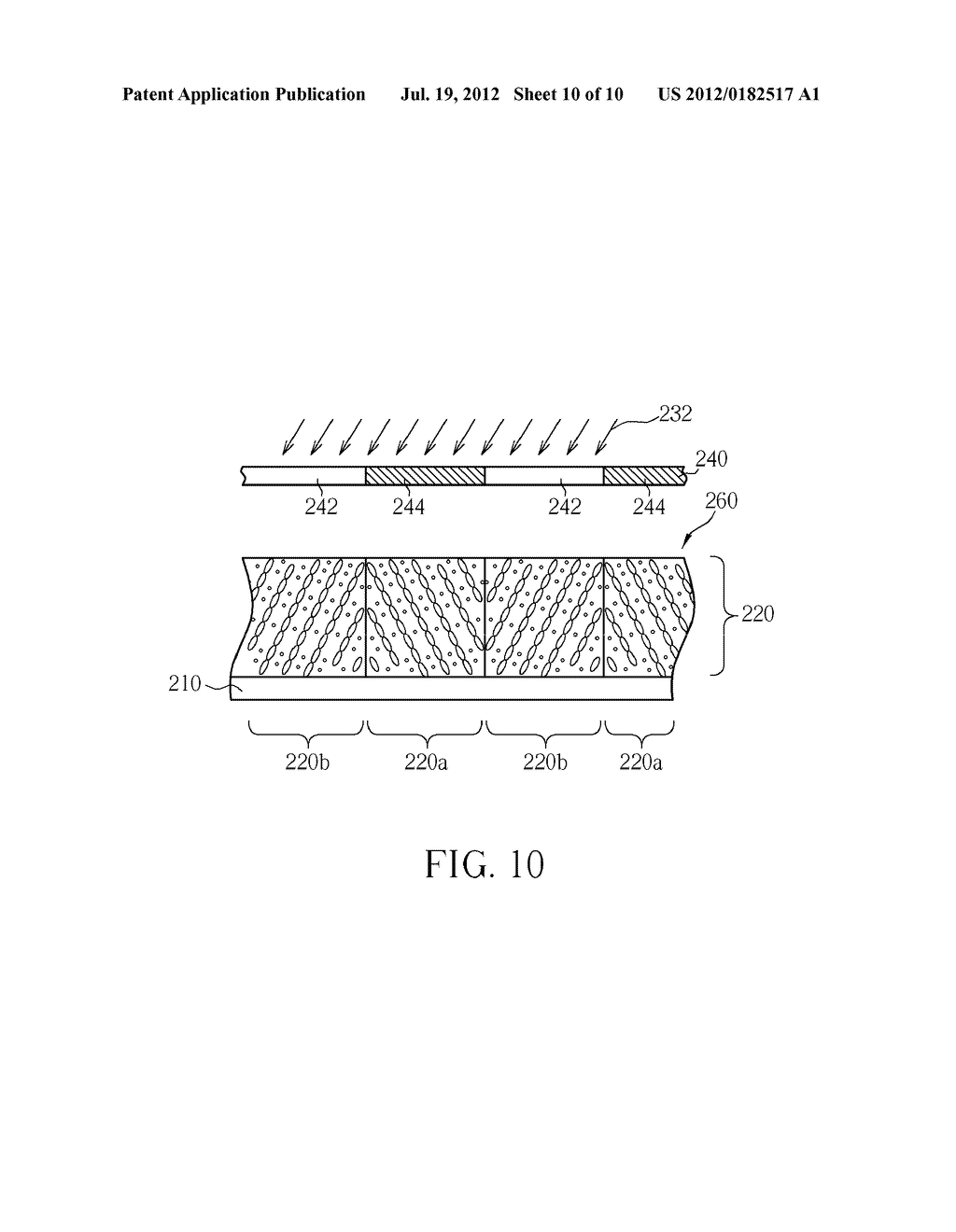 METHOD FOR MANUFACTURING MICRO RETARDER WITHOUT ALIGNMENT LAYER - diagram, schematic, and image 11