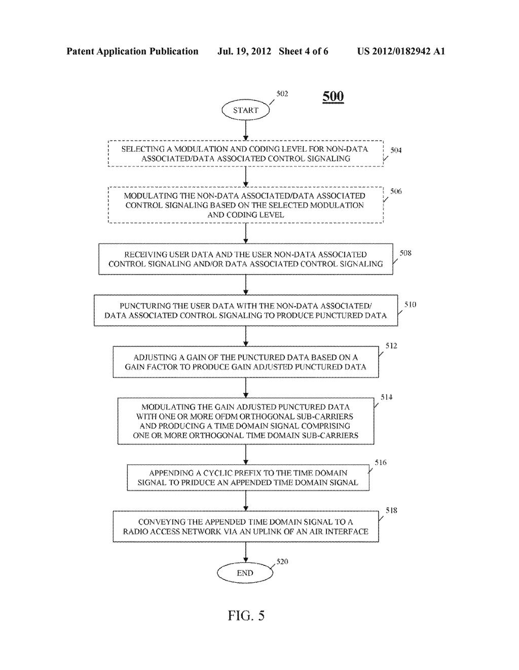 METHOD AND APPARATUS FOR TRANSMISSION OF UPLINK CONTROL SIGNALING AND USER     DATA IN A SINGLE CARRIER ORTHOGONAL FREQUENCY DIVISION MULTIPLEXING     COMMUNICATION SYSTEM - diagram, schematic, and image 05