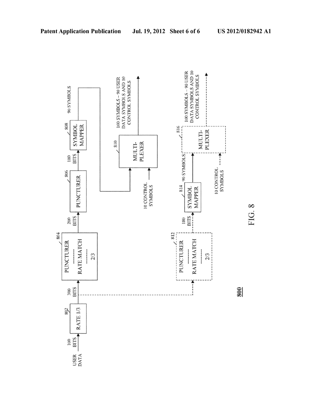 METHOD AND APPARATUS FOR TRANSMISSION OF UPLINK CONTROL SIGNALING AND USER     DATA IN A SINGLE CARRIER ORTHOGONAL FREQUENCY DIVISION MULTIPLEXING     COMMUNICATION SYSTEM - diagram, schematic, and image 07