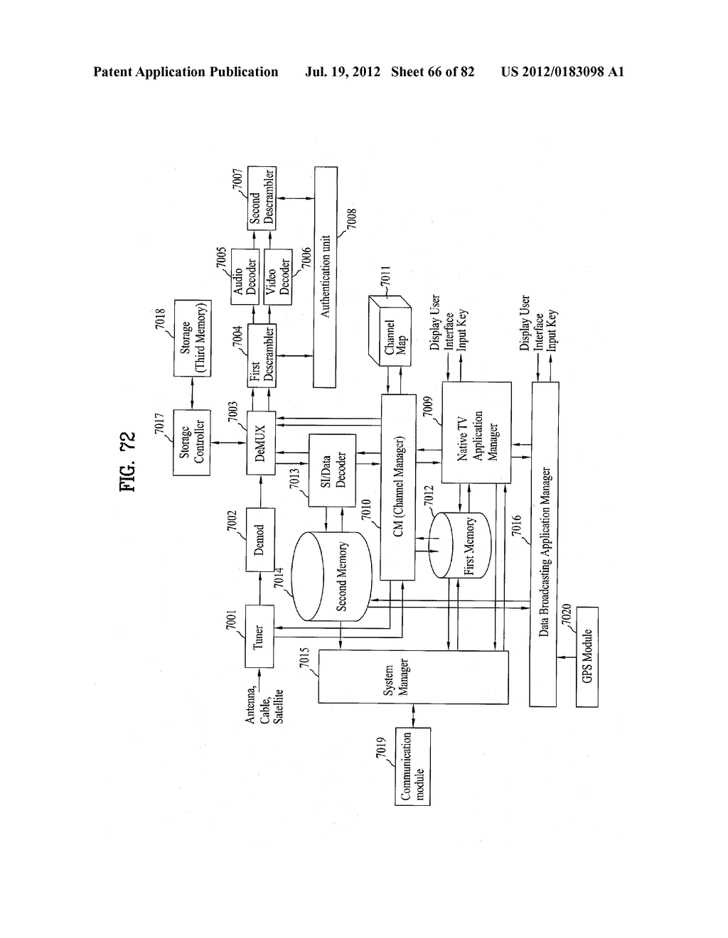 DIGITAL BROADCASTING SYSTEM AND DATA PROCESSING METHOD - diagram, schematic, and image 67