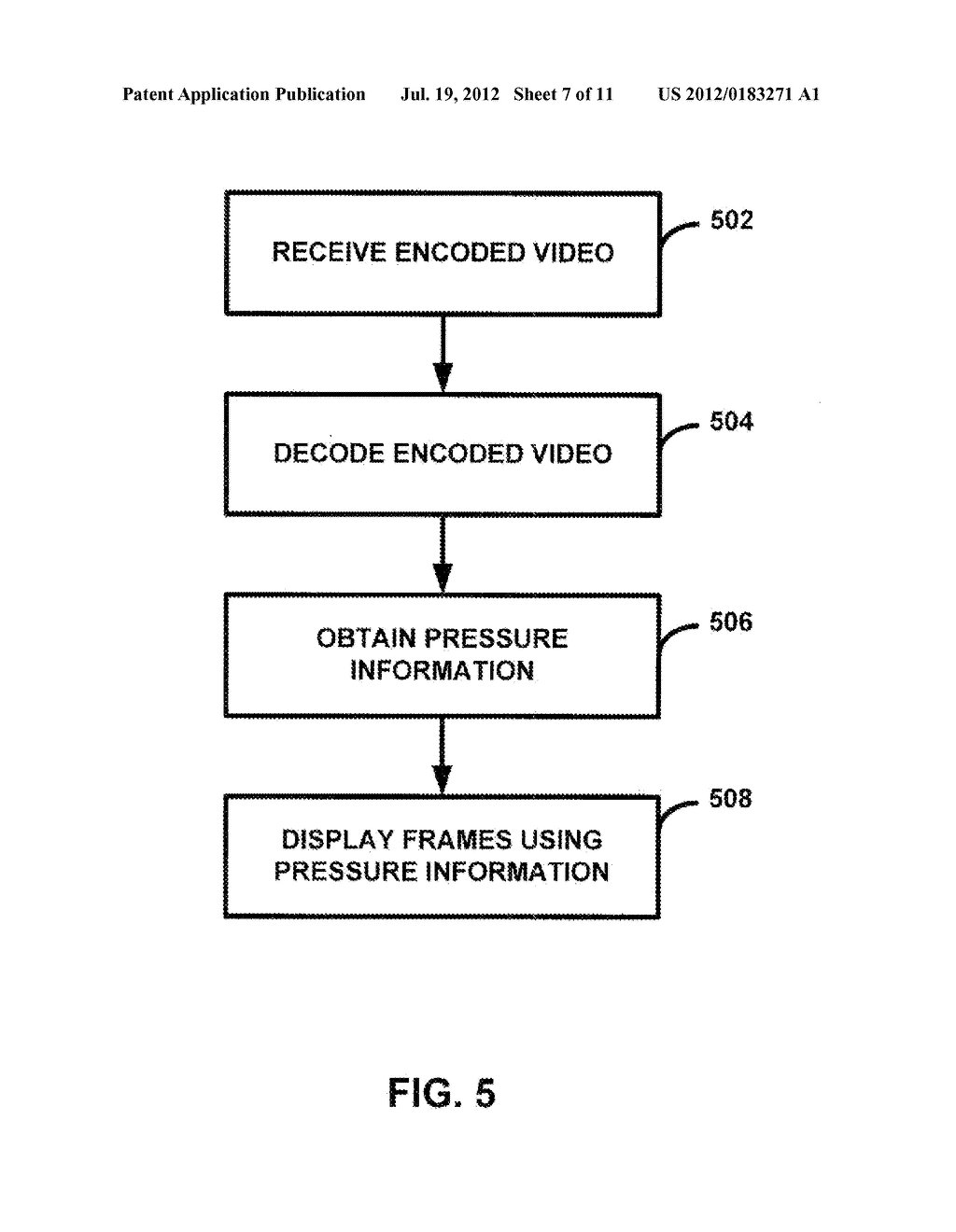 PRESSURE-BASED VIDEO RECORDING - diagram, schematic, and image 08