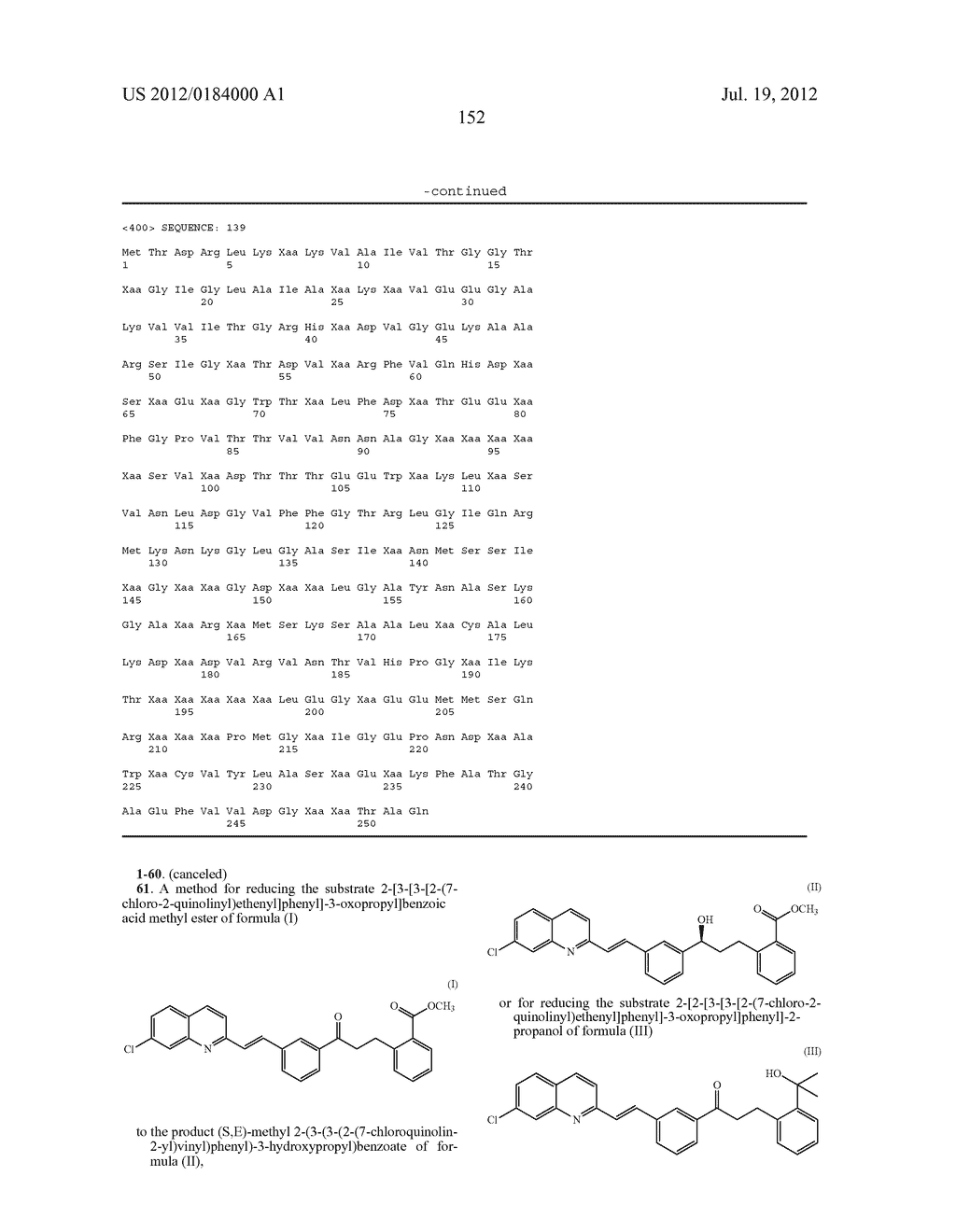 KETOREDUCTASE POLYPEPTIDES FOR THE PRODUCTION OF (S,E)-METHYL     2-(3-(3-(2-(7-CHLOROQUINOLIN-2-YL)VINYL)PHENYL)-3-HYDROXYPROPYL)BENZOATE - diagram, schematic, and image 154